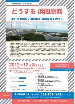 愛知県弁護士会シンポ「どうする浜岡原発」
